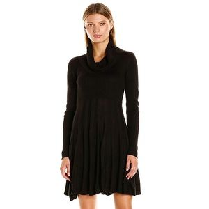 Alice + Olivia Bell Sleeve Cowl Neck Ribbed Dress